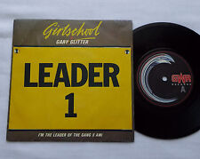 "GIRLSCHOOL + Gary GLITTER I'm the leader of the gang FRANCE 7"" w/PS GWR (1986)"