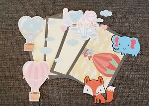 Baby love scrapbook page set photo mats and printed die cuts set #474