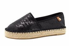 e64ce86571b718 Tamaris Womens UK 6 EU 39 Black Sequin Espadrille Slip On Brand New Shoes