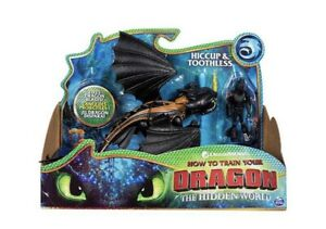 HOW TO TRAIN YOUR DRAGON Action Figures HICCUP & TOOTHLESS THE HIDDEN WORLD