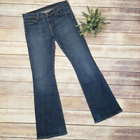 Citizen Humanity Low Rise Flare Dark Distressed Jeans SZ 29 Ingrid 2 Stretch USA