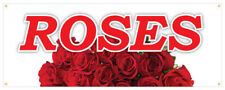 Roses Banner Fresh Flowers Assorted Colors Fresh Smell Retail Store Sign 36x96