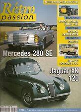 RETRO PASSION 195 MERCEDES 280 SE CABRIOLET JAGUAR XK120 CITROEN ROSALIE COACH