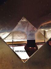 "CLEAR MIRROR ACRYLIC PLEXIGLASS 1/8"" X 6"" X6"" PLASTIC SHEET"