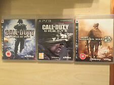 3x PLAYSTATION 3 PS3 GAMES CALL OF DUTY WORLD AT WAR MODERN WARFARE 2 MW2 GHOSTS