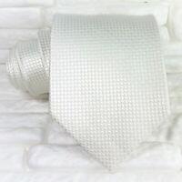 Cravatta seta uomo grigio chiaro Made in Italy business / matrimoni larga