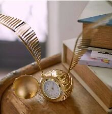 New PBTEEN Golden Snitch Clock Harry Potter New in Box Pottery Barn Teen Gold