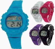 Tikkers Girls Boys Ladies Digital Alarm Sports Watch 50M WR/  Gift For kids