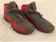 nike air flyposite size 15 cool grey hyper red #536850-001