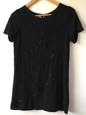 Like New Flannel Black Sequinned Dress Size 0 RRP $420
