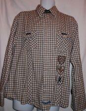ENGLISH LAUNDRY MULTI COLOR PLAIDS THICK SETTING COTTON DRESS SHIRT. EL6095DW3
