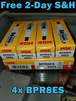 NGK Standard Spark Plugs - Stock #3923 - BPR8ES - Screw Tip - Qty (4)