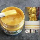 100ml Gold Paint Metal Wood Tasteless Based Crafts Home Acrylic Paint Surface