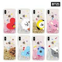 BTS BT21 Official Goods Glitter Case for iPhone / Galaxy +Tracking Num