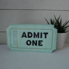 KATE SPADE Aqua ADMIT ONE Movie Theater Ticket LEATHER CLUTCH Bag SOLD OUT Rare