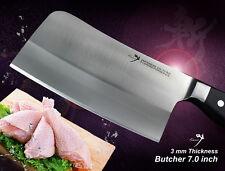 Japanese vg10 Steel Chef's Heavy Duty Butcher Knife 7 inch Full Tang Design