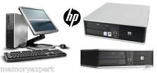 "HP DESKTOP TOWER PC 6 GHZ 2X3 GHZ CORE 2 DUO 250 GB 4 GB WI-FI 19"" MONITOR DVD"
