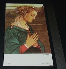 CHROMO 1980-1990 IMAGE PIEUSE CATHOLICISME HOLY CARD FEMME  PRIERE RELIGION