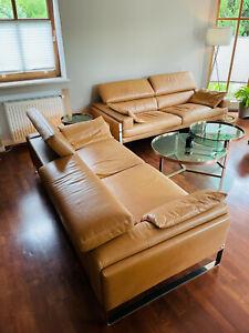 Calia Italia Romeo - Leder Sofa Garnitur gebraucht