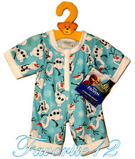 Build a Bear Disney Frozen Olaf Snowman Character Sleeper Teddy Size PJs Outfit