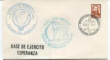 1971 Base Esercito Esperanza Serv. Meteo Fuerza Aerea Polar Ant. Cover SIGNED