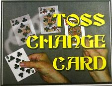 TOSS CHANGE CARD, Bicycle Poker, Shown Card Changes to Correct Selection FAST!
