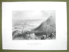 CANADA Sugar Loaf Lake Memphremagog  - 1841 Engraving Print by BARTLETT
