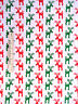 Christmas Fabric - Red Green Reindeer Silver Glitter Fabric Traditions - Yard
