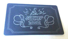 SUBWAY BLACK GIFT CARD RECHARGEABLE ----0----BALANCE BILINGUAL