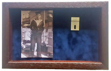 Large Royal Navy  Medal Display Case With Photograph For 2 Medals