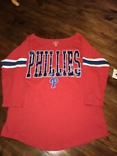 Womens MLB Philadelphia Phillies Baseball Shirt NWT Large Genuine Merchandise