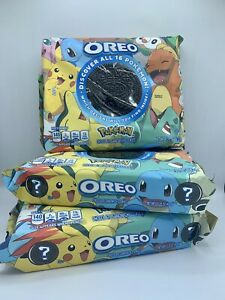 Oreo Pokemon Themed Chocolate Sandwich Cookies, Limited Edition IN HAND 3 Pack🔥