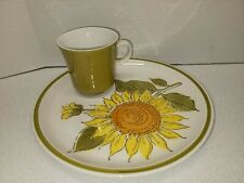 Vintage Esperanto Luncheon Plate With Cup By J Roberts Sunshine M830 Japan