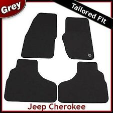 Jeep Cherokee KJ 2001-2008 Fully Tailored Fitted Carpet Car Mats GREY