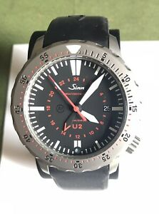 Sinn U2 Automatic Diving Watch With Second Timezone Function