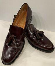 Salvatore Ferragamo Mens Size 9.5 D Cordovan Leather Tassel Loafer Shoes