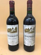 2 BTES de VIN de BORDEAUX : DOMAINE de GRANDMAISON de 1989, PESSAC-LEOGNAN (V35)