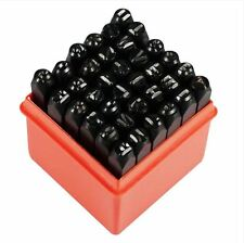 "1/4"" 36pc Letter & Number Stamp Punch Set 6mm Hardened Steel Metal Wood Leather"