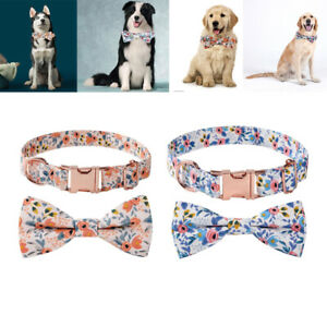 Adjustable Soft Pet Collar Bow Tie Dog Collar For Small Medium Large Dogs Cats