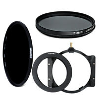 Zomei 82mm Filter Adapter Ring+Multifunctional Holder+CPL+Glass HD ND1000 Filter