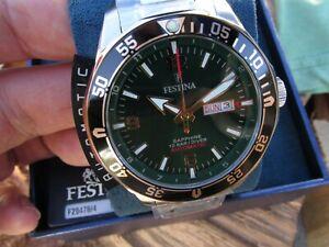 Superb FESTINA Automatic 100m Sapphire lens Screwdown crown Dive watch NEW Boxed