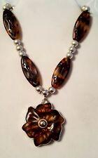 Brighton retired Secret Garden Tortoise reversible necklace B2