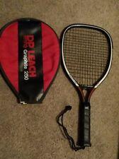 D P Leach Racquet Ball Racquet Fit For Life Graphite 250 W/Excellent Case
