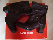 Stiefeletten 39 Görtz Shoes Echtleder Winterstiefel Boots dunkel braun neuw. TOP