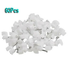 60 Pcs Wall Mount 5mm Dia Electric Cable Circle Nail Clips Fasteners AD