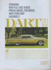 1960 Dodge Dart PRINT AD  New 1961 full size Gold car great detailed vintage ad