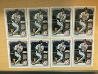 TREVOR HAUVER 2020 BOWMAN DRAFT #BD-113 1ST CARD ROOKIE YANKEES LOT OF (8)