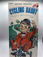 Bandai Vintage Tin & Plastic Cycling Daddy With Box! 100% Original & Working!