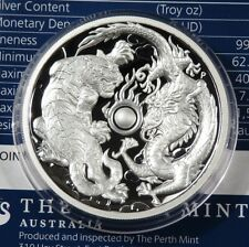 2 Dollars 2018 - Australien - Dragon & Tiger - High Relief  Proof - 2 oz Silber