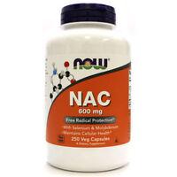 NOW Foods NAC N-Acetyl Cysteine 600mg 250cap Free Radical Protect Selenium 01/22